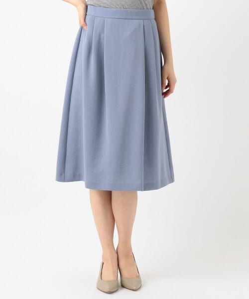 L size ONWARD(大きいサイズ) / エルサイズオンワード ミニ・ひざ丈スカート | 【洗える】パウダーポリ スカート | 詳細7