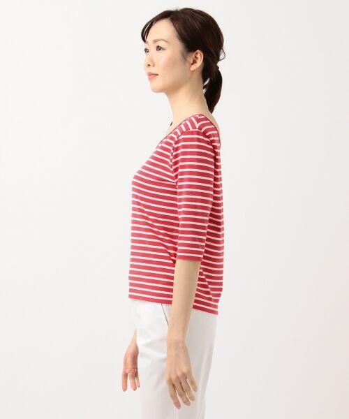 L size ONWARD(大きいサイズ) / エルサイズオンワード Tシャツ | 【中村アンさん着用】ALBINI コットンボーダー カットソー | 詳細9