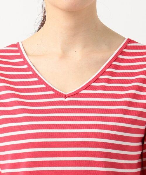 L size ONWARD(大きいサイズ) / エルサイズオンワード Tシャツ | 【中村アンさん着用】ALBINI コットンボーダー カットソー | 詳細10