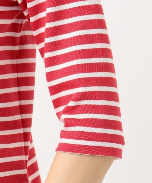 L size ONWARD(大きいサイズ) / エルサイズオンワード Tシャツ | 【中村アンさん着用】ALBINI コットンボーダー カットソー | 詳細11