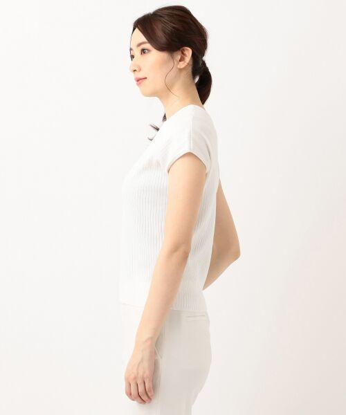 L size ONWARD(大きいサイズ) / エルサイズオンワード ニット・セーター | 【洗える】クリアコットンブレンドワイドリブ ニット | 詳細5