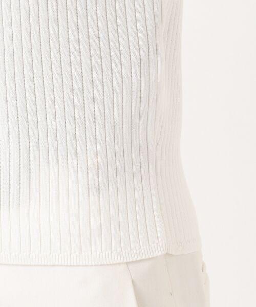 L size ONWARD(大きいサイズ) / エルサイズオンワード ニット・セーター | 【洗える】クリアコットンブレンドワイドリブ ニット | 詳細9