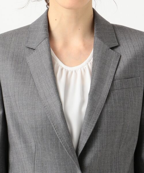 L size ONWARD(大きいサイズ) / エルサイズオンワード テーラードジャケット | 【セットアップ対応】ファインネスウール テーラードジャケット | 詳細10
