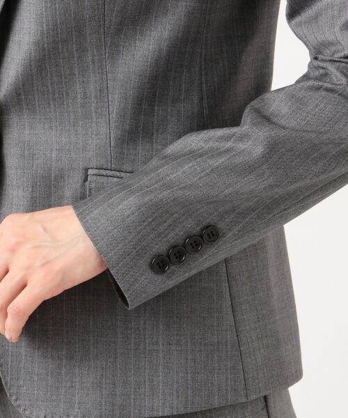 L size ONWARD(大きいサイズ) / エルサイズオンワード テーラードジャケット | 【セットアップ対応】ファインネスウール テーラードジャケット | 詳細11