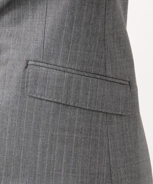 L size ONWARD(大きいサイズ) / エルサイズオンワード テーラードジャケット | 【セットアップ対応】ファインネスウール テーラードジャケット | 詳細12