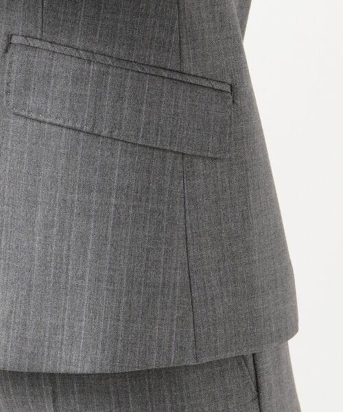 L size ONWARD(大きいサイズ) / エルサイズオンワード テーラードジャケット | 【セットアップ対応】ファインネスウール テーラードジャケット | 詳細13