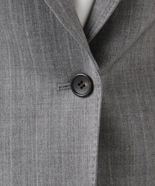 L size ONWARD(大きいサイズ) / エルサイズオンワード テーラードジャケット | 【セットアップ対応】ファインネスウール テーラードジャケット | 詳細14