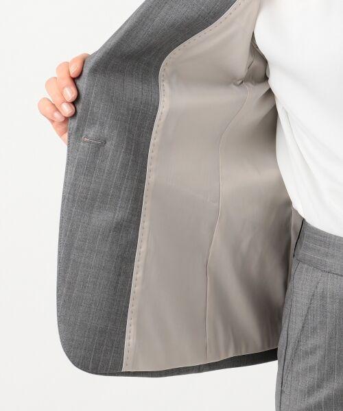 L size ONWARD(大きいサイズ) / エルサイズオンワード テーラードジャケット | 【セットアップ対応】ファインネスウール テーラードジャケット | 詳細16