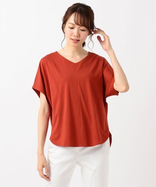 L size ONWARD(大きいサイズ) / エルサイズオンワード Tシャツ | 【UVケア】レーヨンナイロンポンチ ドルマンスリーブ Tシャツ | 詳細7