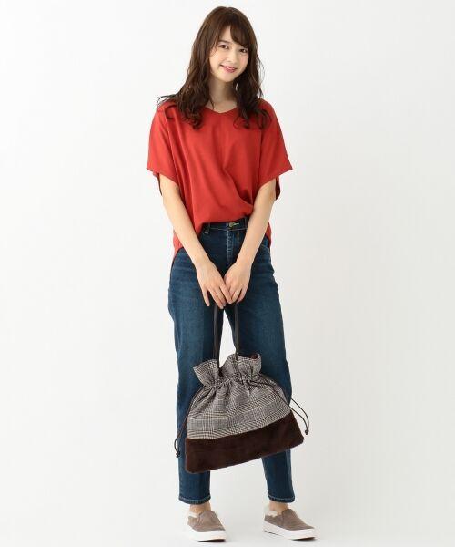 L size ONWARD(大きいサイズ) / エルサイズオンワード Tシャツ | 【UVケア】レーヨンナイロンポンチ ドルマンスリーブ Tシャツ | 詳細5