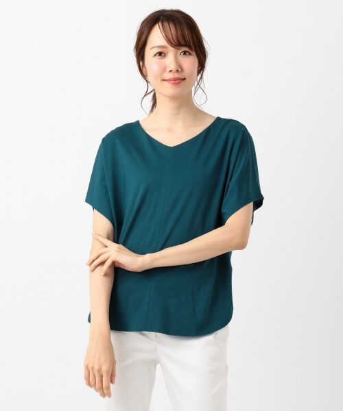 L size ONWARD(大きいサイズ) / エルサイズオンワード Tシャツ | 【UVケア】レーヨンナイロンポンチ ドルマンスリーブ Tシャツ | 詳細10