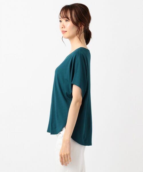 L size ONWARD(大きいサイズ) / エルサイズオンワード Tシャツ | 【UVケア】レーヨンナイロンポンチ ドルマンスリーブ Tシャツ | 詳細11