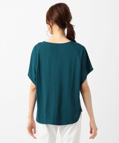L size ONWARD(大きいサイズ) / エルサイズオンワード Tシャツ | 【UVケア】レーヨンナイロンポンチ ドルマンスリーブ Tシャツ | 詳細12