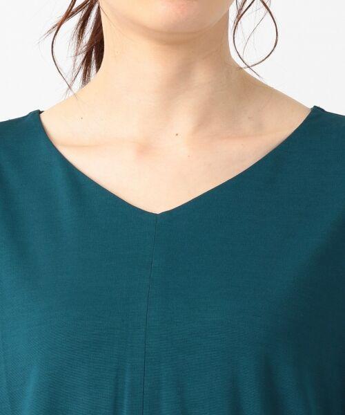 L size ONWARD(大きいサイズ) / エルサイズオンワード Tシャツ | 【UVケア】レーヨンナイロンポンチ ドルマンスリーブ Tシャツ | 詳細13
