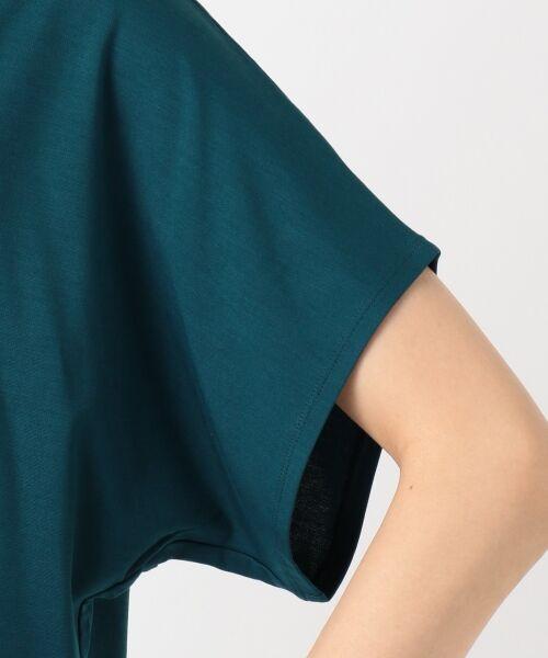 L size ONWARD(大きいサイズ) / エルサイズオンワード Tシャツ | 【UVケア】レーヨンナイロンポンチ ドルマンスリーブ Tシャツ | 詳細14