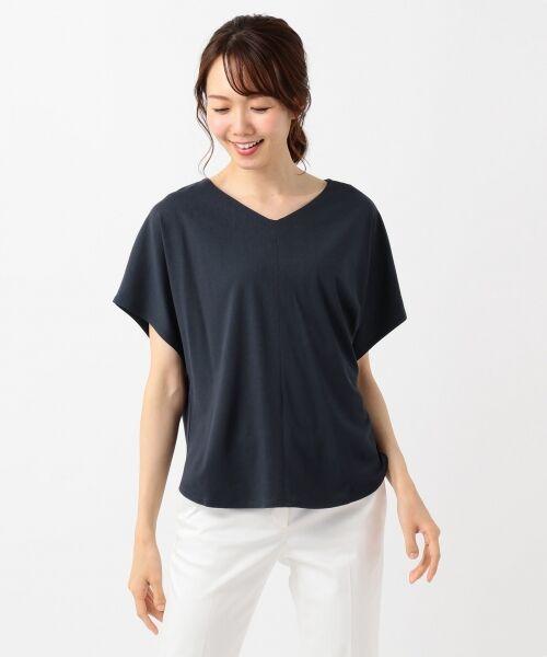 L size ONWARD(大きいサイズ) / エルサイズオンワード Tシャツ | 【UVケア】レーヨンナイロンポンチ ドルマンスリーブ Tシャツ | 詳細19