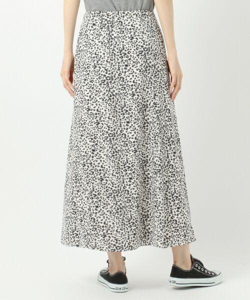 L size ONWARD(大きいサイズ) / エルサイズオンワード ミニ・ひざ丈スカート | 【L'aube】レオパードマーメイド スカート | 詳細10