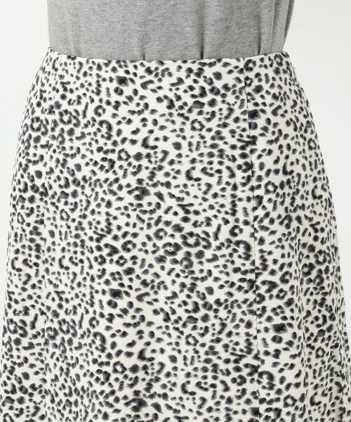 L size ONWARD(大きいサイズ) / エルサイズオンワード ミニ・ひざ丈スカート | 【L'aube】レオパードマーメイド スカート | 詳細11
