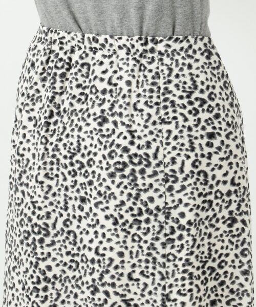 L size ONWARD(大きいサイズ) / エルサイズオンワード ミニ・ひざ丈スカート | 【L'aube】レオパードマーメイド スカート | 詳細12