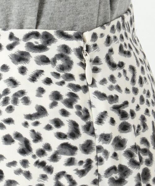 L size ONWARD(大きいサイズ) / エルサイズオンワード ミニ・ひざ丈スカート | 【L'aube】レオパードマーメイド スカート | 詳細13