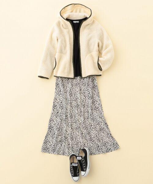 L size ONWARD(大きいサイズ) / エルサイズオンワード ミニ・ひざ丈スカート | 【L'aube】レオパードマーメイド スカート | 詳細7
