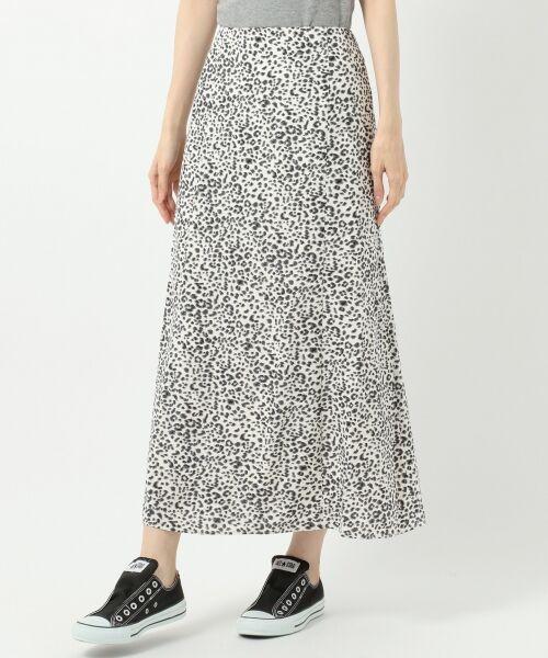 L size ONWARD(大きいサイズ) / エルサイズオンワード ミニ・ひざ丈スカート | 【L'aube】レオパードマーメイド スカート | 詳細8