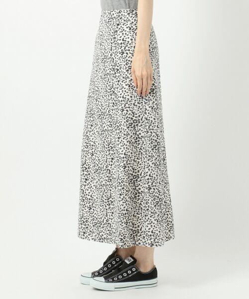 L size ONWARD(大きいサイズ) / エルサイズオンワード ミニ・ひざ丈スカート | 【L'aube】レオパードマーメイド スカート | 詳細9