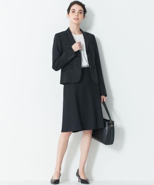 L size ONWARD(大きいサイズ) / エルサイズオンワード ミニ・ひざ丈スカート | 【セットアップ対応】ファインネスウール フレアスカート | 詳細1