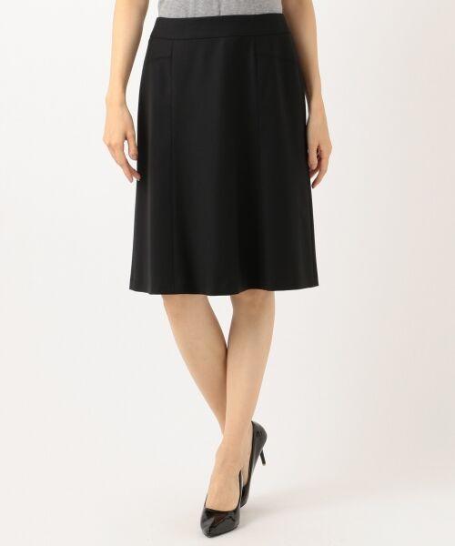 L size ONWARD(大きいサイズ) / エルサイズオンワード ミニ・ひざ丈スカート | 【セットアップ対応】ファインネスウール フレアスカート | 詳細2