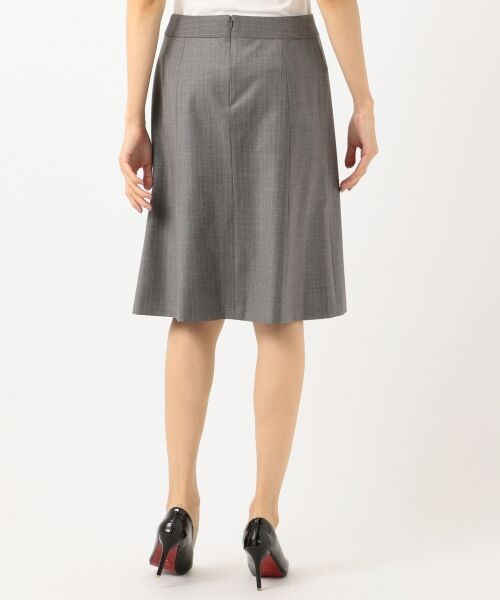 L size ONWARD(大きいサイズ) / エルサイズオンワード ミニ・ひざ丈スカート | 【セットアップ対応】ファインネスウール フレアスカート | 詳細7