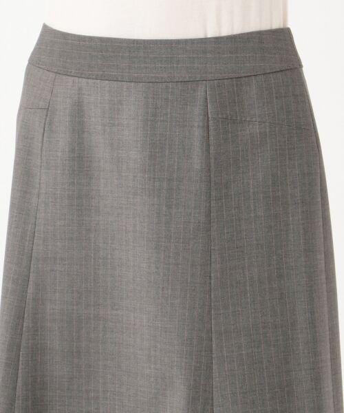 L size ONWARD(大きいサイズ) / エルサイズオンワード ミニ・ひざ丈スカート | 【セットアップ対応】ファインネスウール フレアスカート | 詳細8