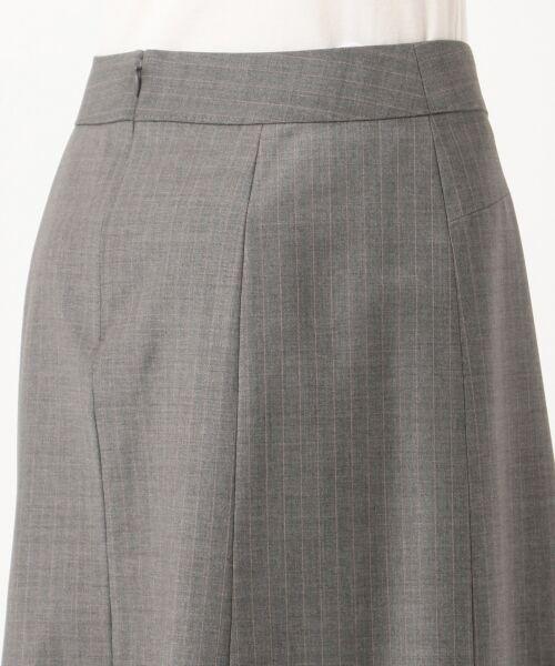 L size ONWARD(大きいサイズ) / エルサイズオンワード ミニ・ひざ丈スカート | 【セットアップ対応】ファインネスウール フレアスカート | 詳細9