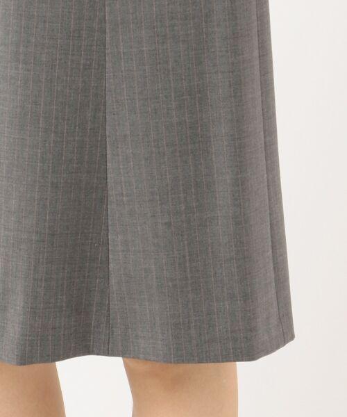 L size ONWARD(大きいサイズ) / エルサイズオンワード ミニ・ひざ丈スカート | 【セットアップ対応】ファインネスウール フレアスカート | 詳細12