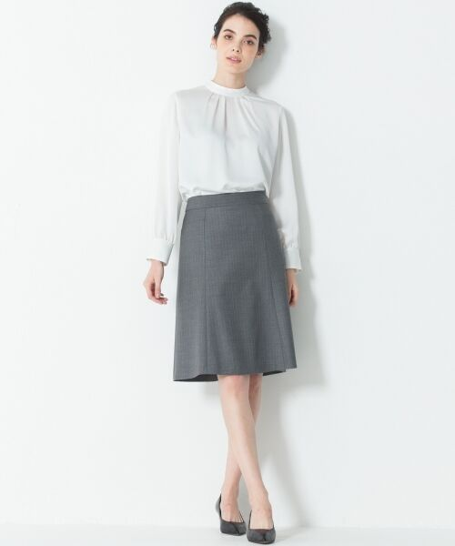 L size ONWARD(大きいサイズ) / エルサイズオンワード ミニ・ひざ丈スカート | 【セットアップ対応】ファインネスウール フレアスカート | 詳細3
