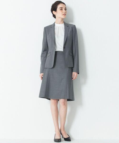 L size ONWARD(大きいサイズ) / エルサイズオンワード ミニ・ひざ丈スカート | 【セットアップ対応】ファインネスウール フレアスカート | 詳細4