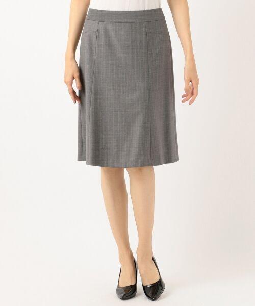 L size ONWARD(大きいサイズ) / エルサイズオンワード ミニ・ひざ丈スカート | 【セットアップ対応】ファインネスウール フレアスカート | 詳細5