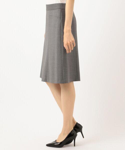 L size ONWARD(大きいサイズ) / エルサイズオンワード ミニ・ひざ丈スカート | 【セットアップ対応】ファインネスウール フレアスカート | 詳細6