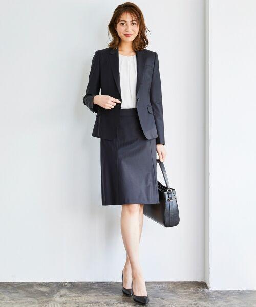L size ONWARD(大きいサイズ) / エルサイズオンワード ミニ・ひざ丈スカート | 【セットアップ対応】ファインネスウール フレアスカート | 詳細13