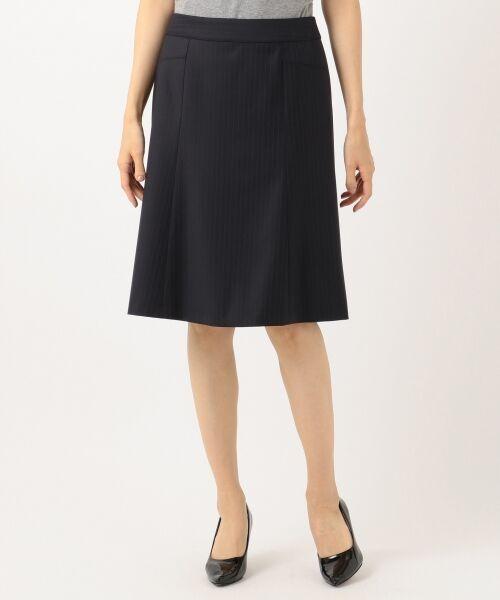L size ONWARD(大きいサイズ) / エルサイズオンワード ミニ・ひざ丈スカート | 【セットアップ対応】ファインネスウール フレアスカート | 詳細15