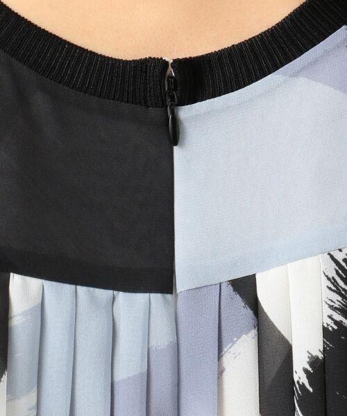 L size ONWARD(大きいサイズ) / エルサイズオンワード ミニ丈・ひざ丈ワンピース | Brushed Pleats ワンピース | 詳細8