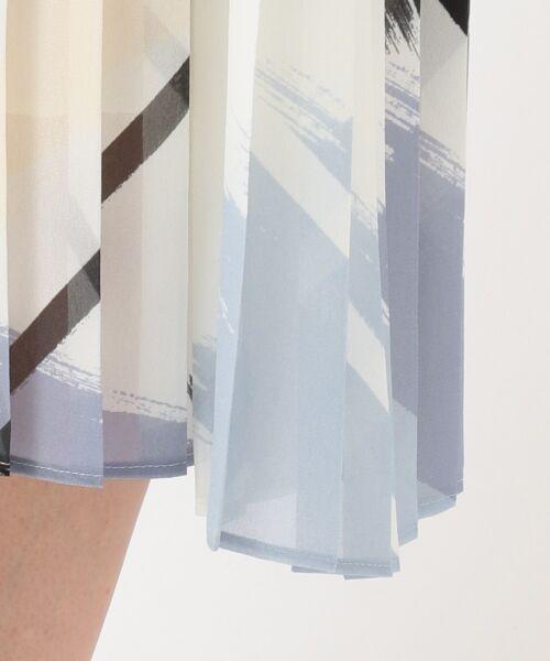 L size ONWARD(大きいサイズ) / エルサイズオンワード ミニ丈・ひざ丈ワンピース | Brushed Pleats ワンピース | 詳細9