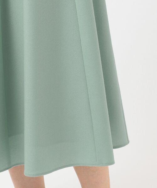 L size ONWARD(大きいサイズ) / エルサイズオンワード ミニ・ひざ丈スカート | ウールソフトジョーゼット フレアスカート | 詳細20