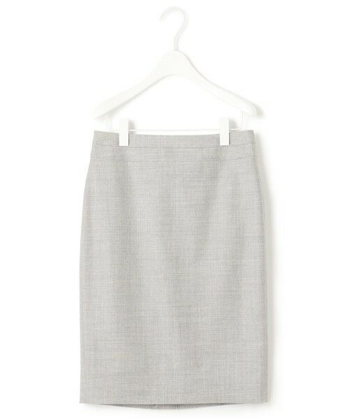 L size ONWARD(大きいサイズ) / エルサイズオンワード ミニ・ひざ丈スカート | 【セットアップ対応】Bahariye タイトスカート(ライトグレー系)