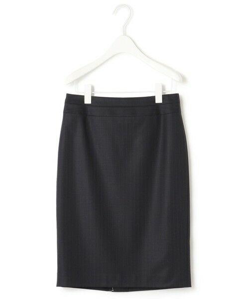 L size ONWARD(大きいサイズ) / エルサイズオンワード ミニ・ひざ丈スカート | 【セットアップ対応】Bahariye タイトスカート(ネイビーストライプ系)
