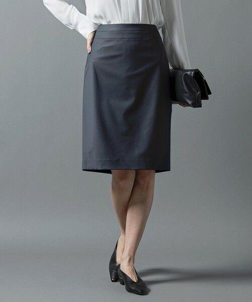 L size ONWARD(大きいサイズ) / エルサイズオンワード ミニ・ひざ丈スカート | 【セットアップ対応】Bahariye タイトスカート(ダークグリーン系)
