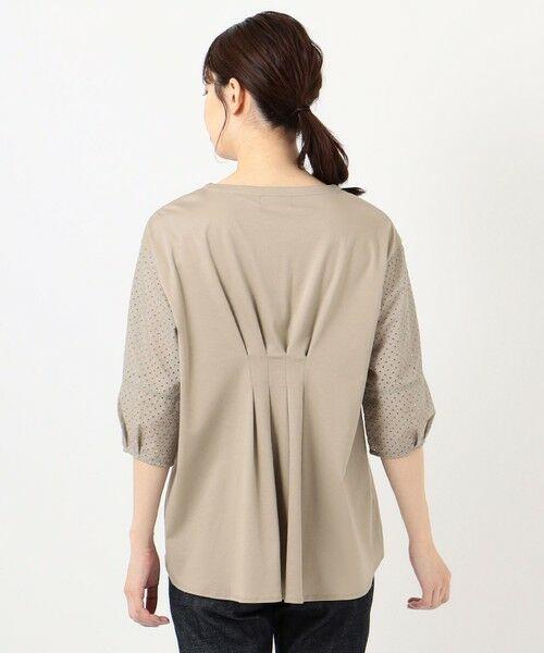 L size ONWARD(大きいサイズ) / エルサイズオンワード カットソー | スムースジャージー 刺繍袖 カットソー | 詳細7