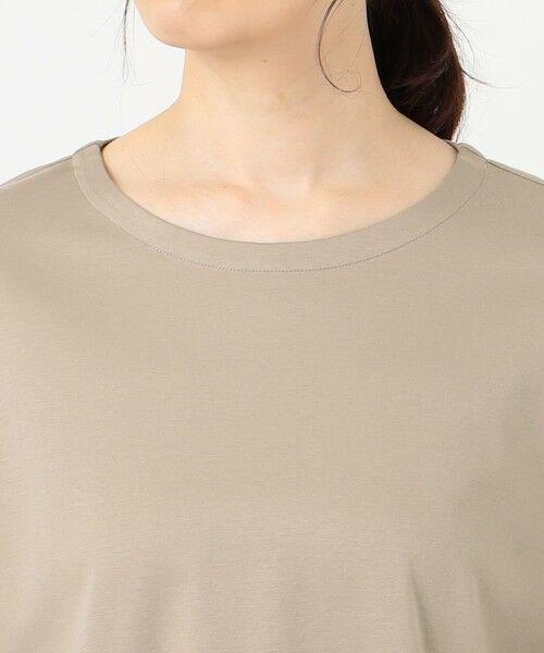 L size ONWARD(大きいサイズ) / エルサイズオンワード カットソー | スムースジャージー 刺繍袖 カットソー | 詳細8