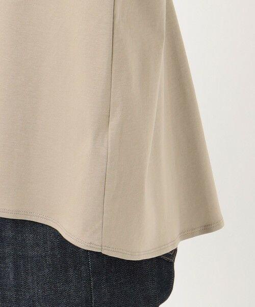 L size ONWARD(大きいサイズ) / エルサイズオンワード カットソー | スムースジャージー 刺繍袖 カットソー | 詳細10