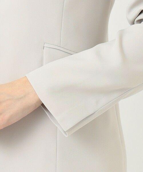 L size ONWARD(大きいサイズ) / エルサイズオンワード ノーカラージャケット | 【UV/抗菌防臭/防シワ】コンパクト2wayダブルクロス カラーレスジャケット | 詳細9