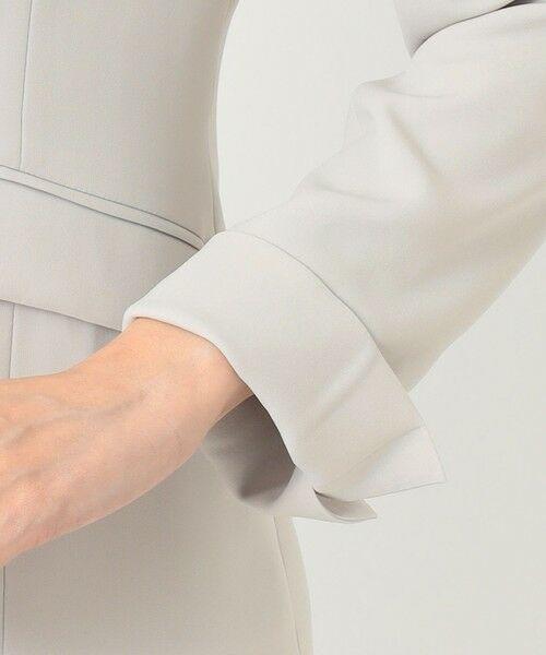 L size ONWARD(大きいサイズ) / エルサイズオンワード ノーカラージャケット | 【UV/抗菌防臭/防シワ】コンパクト2wayダブルクロス カラーレスジャケット | 詳細12